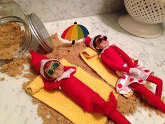 Elf on the Shelf Beach Idea