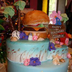 Jimmy buffett cake parrotheadparty jimmybuffett jimmybuffettparty fins up cake jimmy - Cuisine stormer kuchen ...