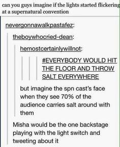 Hahaha this is definitely something Misha would do!
