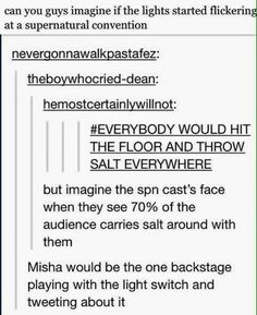 Hahaha this is definitely something Misha would do!