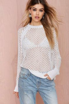 Nasty Gal Public Image Net Sweater | Shop Clothes at Nasty Gal!