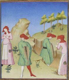 Publius Terencius Afer, Comoediae [comédies de Térence] ca. 1411;  Bibliothèque de l'Arsenal, Ms-664 réserve, 12r