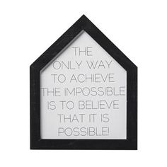 The only way art print - 20x25 cm - Bloomingville