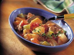 Welcome the robust flavors of root veggies in a warm and cozy stew.