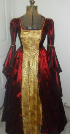 Beautiful Bell Sleeved Princess Gown/ Dress by Allunara on Etsy, $160.00