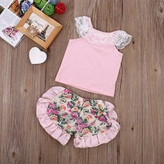 Amazon.com: Cute Baby Girl Lace Tops T-shirt+Shorts Ruffles Floral Pants Outfits Set Costume: Clothing  https://www.amazon.com/gp/product/B01KFPMR8M/ref=as_li_qf_sp_asin_il_tl?ie=UTF8&tag=rockaclothsto_toys-20&camp=1789&creative=9325&linkCode=as2&creativeASIN=B01KFPMR8M&linkId=c219569647b2f78869842e88be0488bb