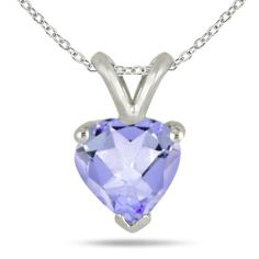 All-Natural Genuine 4 mm, Heart Shape Tanzanite pendant set in Platinum Szul. $699.00. Complimentary Packaging. 60 Day Complimentary Repair Service. 30 Day Money Back Guarantee