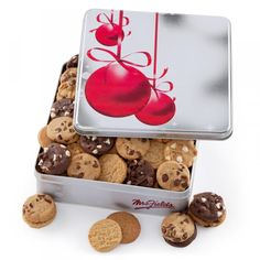 Mrs. Fields holiday cookie tin. @Mrs. Fields Scarborough Town Centre. #Christmas