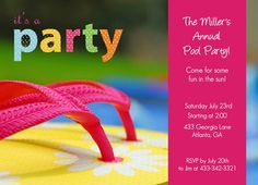 Easily customize this Diving Into Parenthood Pool Party Invitation design using the online editor. All of our Pool Party Invitations design templates are fully customizable. Kids Beach Party, Beach Kids, Beach Party Invitations, Invites, Online Invitations, Summer Parties, Printable Cards, Some Fun, Invitation Cards