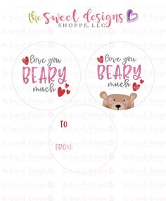 Printable Tags, Printables, Tag Templates, All Tags, Front Design, Card Stock, Love You, Valentines, Paper