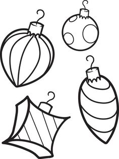 Christmas Ornaments Coloring Page 1