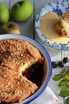 Nessa's Family Kitchen :Blackberry & Apple Cobbler