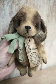 REDUCED Artist Bear handmade Puppy Henry by bearwithmee on Etsy, £80.00