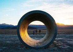 UMFA: Utah Museum of Fine Arts - The Sun Tunnels, by Nancy Holt, at the Salt Lake in Lucin NV