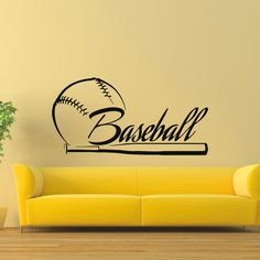 Baseball-bat Ball Wall Art Sticker Decal