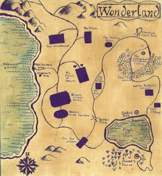 Wonderland Map by NauticalNymph #aliceinwonderland
