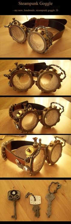 Steampunk Aviator Goggles by *kyphoscoliosis  #provestra