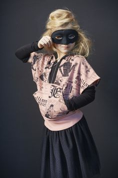 John Galliano Kids winter 2013 the newsprint design features strongly throughout the childrens collection