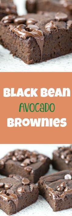 Black bean avocado brownies! SAY WHAT? Black beans? Avocado? In a brownie? YUP! Happy Recipe Redux! Try these black bean brownies out today!   krollskorner.com
