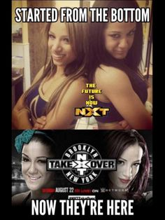 Sasha Banks and Bayley from NXT newbies to the top stars of NXT and WWE. So proud of these ladies Wrestling Superstars, Women's Wrestling, Bailey Wwe, Wwe Raw And Smackdown, Wwe Funny, Wwe Pictures, Wwe Sasha Banks, Wwe Women's Division, Wwe Girls