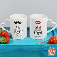 Personalised mugs for couples