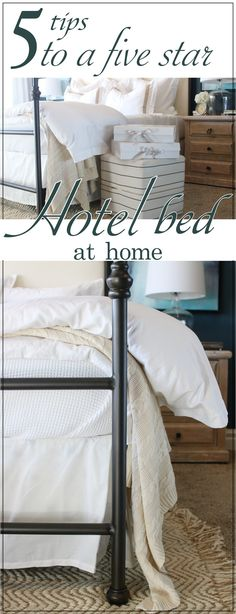 5 Tips to Achieve a Five Star Hotel Bed at Home pin