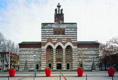Church St. Johann Baptist, Neu-Ulm, Germany I rebuilt 1921-1927 by Dominikus Böhm