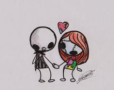Jack and Sally Chibi