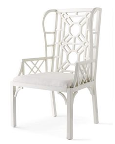 """Boulevard"" Wing Chair by Lilly Pulitzer Home at Horchow."