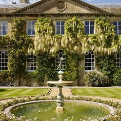 The garden fountain at Bowood House an eighteenth-century English country house with grand Robert Adam interiors and Capability Brown landscapes - stately homes on HOUSE.
