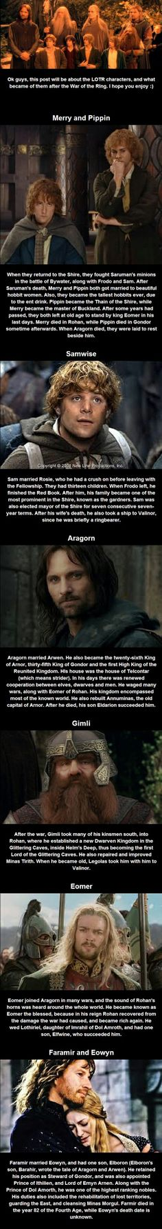 What happened after Lord of the Rings