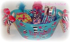 Personalized birthday bucket!  www.facebook.com/diddlebugbowtique