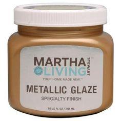 Martha Stewart Living, 10-oz. Metallic Glaze Medallion Satin Specialty Finish, 259291 at The Home Depot - Mobile