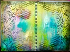 Student Work by Acorn Crafts in Inventive Ink – Colorful Mixed Media Effects class.  Register here: craftsy.me/MarjieKemper_5042