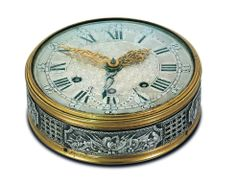 """Travel """"alarm clock"""" c. 1788 by Charles Le Roy. Marie-Antoinette is believed to have ordered this watch as a gift for the man thought to be her lover, Count Axel de Fersen, Ambassador and Marshall of Kingdom of Sweden. Marie Antoinette, Versailles, Kingdom Of Sweden, French Royalty, Old Watches, Pocket Watches, Travel Alarm Clock, Old Clocks, Vintage Clocks"""