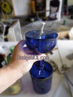Homemade Wine Bottle Planter