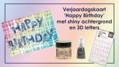 Verjaardagskaart met shiny achtergrond en 3D letters 3d Letters, Youtube, Youtubers