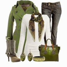 Fabulous green collection for winter-goes great with Pebble Beach and Fiddlestick Fern Eyeshadow and Hot Lava Lipstick.