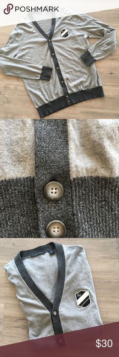 SEAN JOHN ~ gray charcoal cardigan V-neck sweater SEAN JOHN ~   Gray & charcoal gray color  V-neck cardigan sweater  Great thick buttons  Like new never worn  Size 3XL 100% soft cotton  SJ crest logo on front Sean John Sweaters Cardigan
