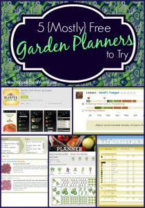 5 Mostly Free Vegetable Garden Planners to Try | PreparednessMama.com