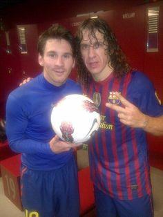 Messi y Puyol