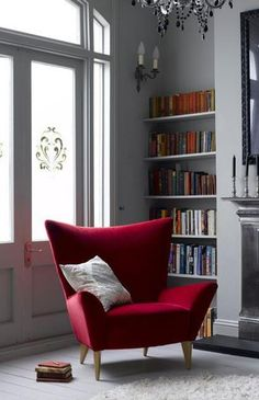 Last Trending Get all images red home decor Viral cool red and grey home decor ideas Design Salon, Canapé Design, Chair Design, Furniture Design, Study Design, Design Ideas, Furniture Ideas, Design Projects, House Design