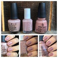 "Warm French Onion Soup: What I Blog About When I Blog: Polish Comparison: OPI ""Tickle My France-y,"" Essie ""Lady Like,"" China Glaze ""Dress Me..."