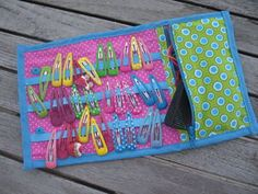 hair clip wallet with zip pocket for hairbands & comb ~ cute idea for Operation Christmas Child shoe box gift
