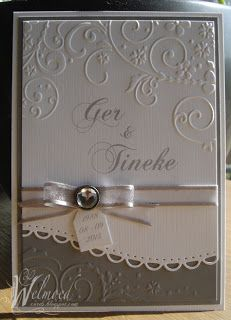 Spellbinders & embossed card