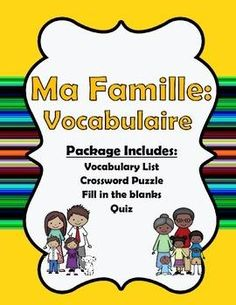 This 9-page package includes vocabulary terms and activities to teach your students how to talk about their families. | by One Teacher's Adventures