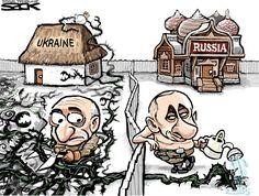 Переводика - Зарубежная политическая карикатура: Путин, Обама, Меркель, Россия, Украина
