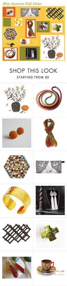 """Etsy Autumn Gift Ideas"" by anna-ragland ❤ liked on Polyvore featuring MCM and vintage"