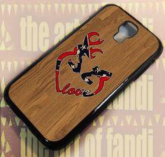 Deer Heart Love Flag Wood For Samsung Galaxy Black Rubber Case Samsung Galaxy S4, Black Rubber, New Product, Deer, Iphone Cases, Flag, Wood, Handmade, Woodwind Instrument