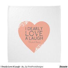 I Dearly Love A Laugh - Jane Austen Quote Bandana